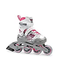 Phoenix G is a value driven kids adjustable skate with higher quality because a first skate should not have to be the worst skate. Backed with Rollerblade technology, this kids skate easily adjusts, fits well and performs at the right level f...