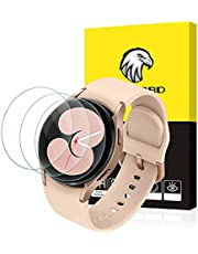 SPGUARD Galaxy Watch 4 40mm Screen Protector, 3 Pack Tempered Glass Screen Protector Compatible with Samsung Galaxy Watch4 40mm
