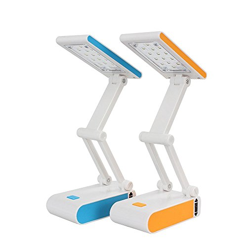 Geekercity LED Desk Light, Portable Foldable Rechargeable Eye Protection Daylight LED Desk Table Lamp for Home Office Reading (Blue) (Base Drum Harness compare prices)