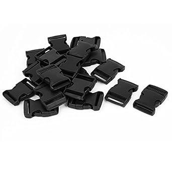 Amazon.com: eDealMax plástico 1.5 correas anchas de la Correa de la Hebilla del lanzamiento del lado 20Pcs Negro: Industrial & Scientific