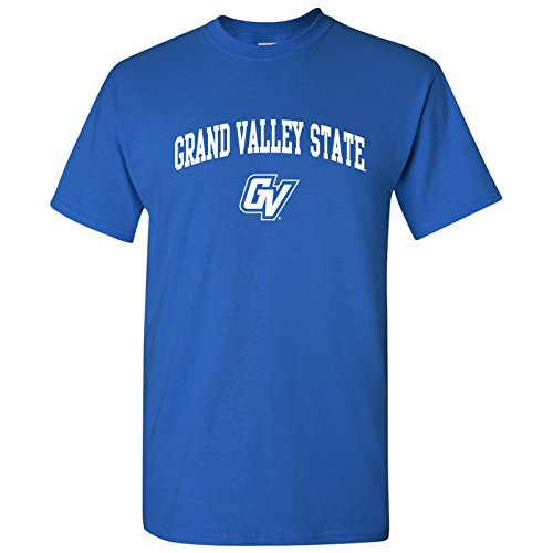 Grand University Valley State - AS03 - Grand Valley State University Lakers Arch Logo T-Shirt – 3X-Large - Royal