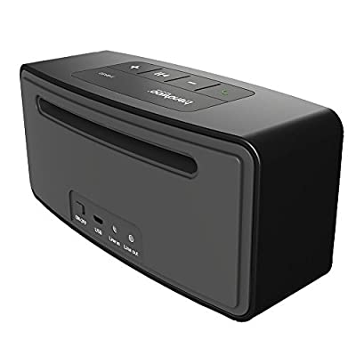 Trendwoo® Portable Wireless Bluetooth Speaker Enhanced Bass Resonator, Powerful Sound, High-Def Sound for Handsfree Speakerphone iPhone, iPad, Samsung, Android smartphones, mp3 players and tablets