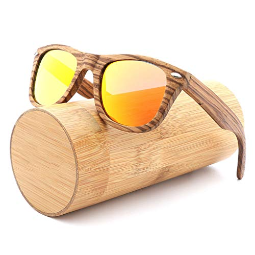de Madera Gray de Cebra Unisex Azul de Madera polarizadas de del Deporte clásica Libre vidrios Aire bambú Gafas la del la de sol Remache Manera bambú Gafas Color al de EyPCqWw477
