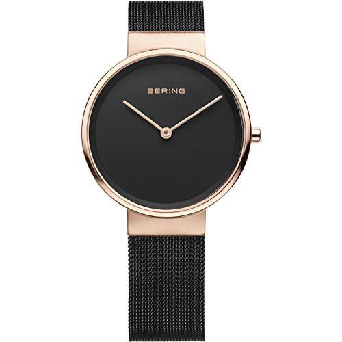 BERING Time 14531-166 Womens Classic Collection Watch with Mesh Band and scratch resistant sapphire crystal. Designed in Denmark.