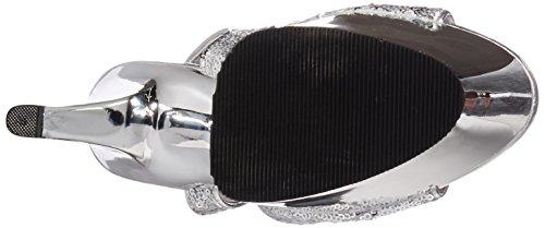 Sandal Sky Slv Slv Chrome 310SQ Pleaser Women's Sequins tTwHvqAq
