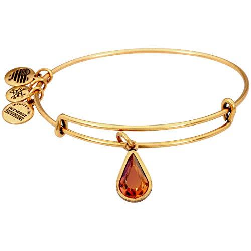 Alex and Ani November Birth Month Charm with Swarovski Crystal Rafaelian Gold Bangle Bracelet