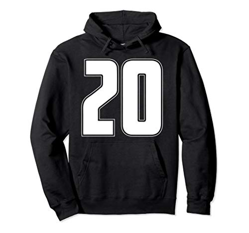 Halloween Group Costume #20 Sport Jersey Number 20 20th Bday Pullover Hoodie