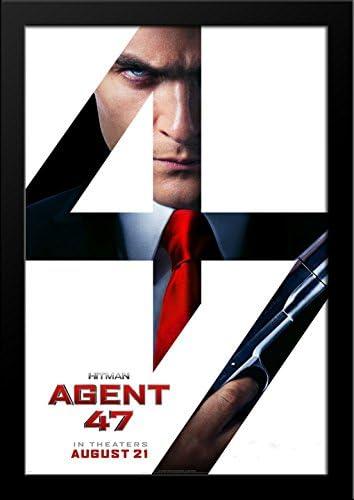Amazon Com Hitman Agent 47 28x36 Large Black Wood Framed Movie