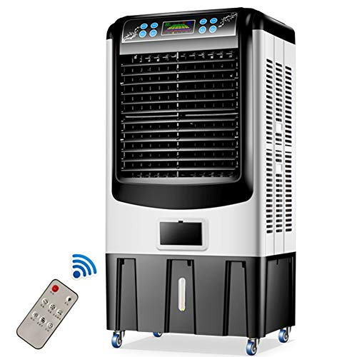 FJNS 10000m³/H Large air Volume Air Conditioner / 50L Large Capacity Water Tank / 120° Wide Angle / 22 Meters air Supply Distance/LED Button Touch Screen/Low Noise Operation 40db / 4 ice Crystals