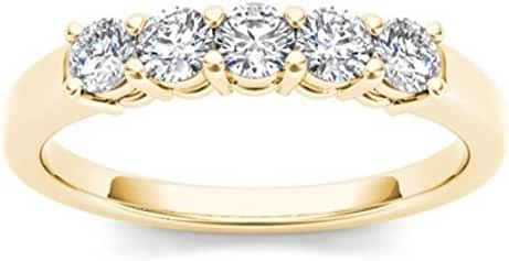 14Kt Yellow Gold 0.50 Ct Diamond Wedding Band (Size 6.5)