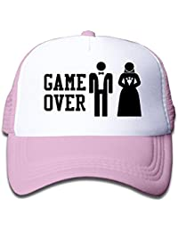 58b6d40ab93 Adults Unisex Game Over Baseball Cap Funny Bachelor Party Wedding Humor  Trucker Hats
