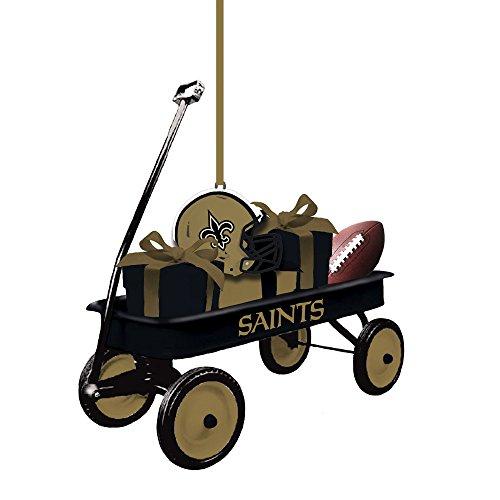 Team Sports America 3OT3819WGN New Orleans Saints Team Wagon Ornament