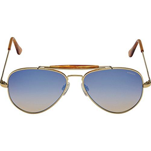 Randolph Engineering Sportsman 23K Gold Sunglasses | Oasis Metallic Nylon Ar Skull 57MM - Randolph Sunglasses Sportsman