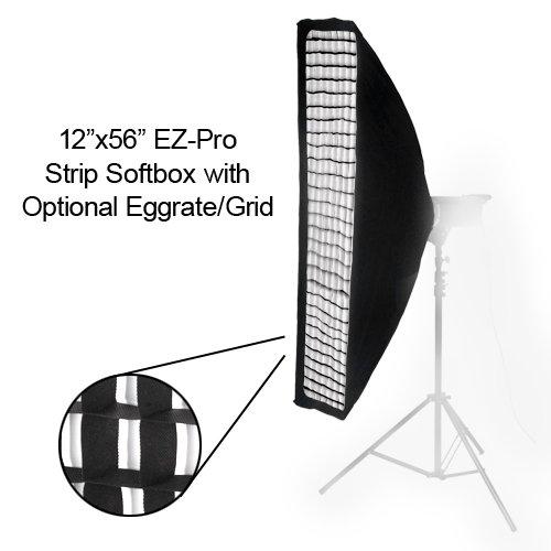 "Fotodiox 10sbxab1256ez Pro Studio Solutions Ez Pro Strip: Fotodiox EZ-Pro Strip Softbox 12x56"" With Speedring For"