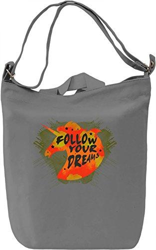 Follow Your Dreams Borsa Giornaliera Canvas Canvas Day Bag| 100% Premium Cotton Canvas| DTG Printing|