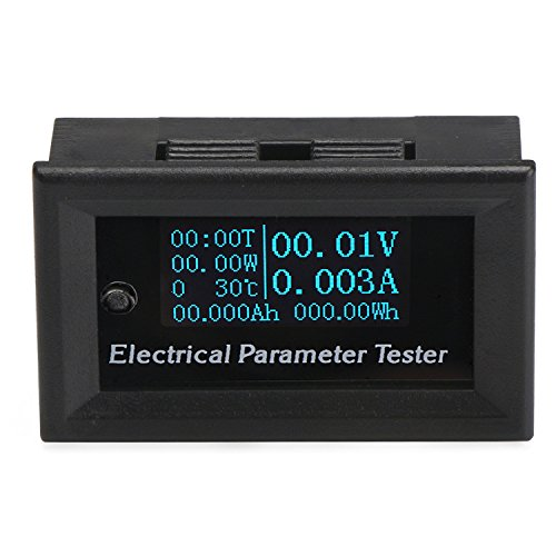 Battery Energy Gauge - DC Voltmeter Ammeter Panel, DROK 0.96