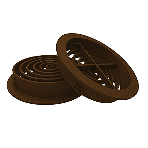 Competent in Smart 25 X Plastic Round Soffit Air Vents / Upvc Push In Roof Disc / Fascia 70Mm Brown