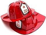 Rhode Island Novelty Plastic Firefighter Chief Hat (Set of 12)