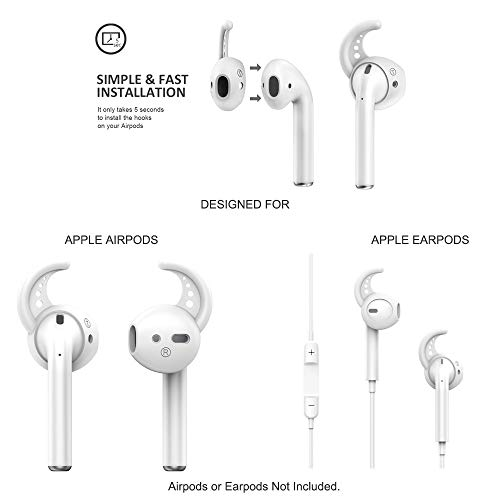 6 Pairs AirPods Accessories Ear Hooks Cover, Professional Anti-Slip Silicone Earbuds Tips Hook Compatible with Apple…