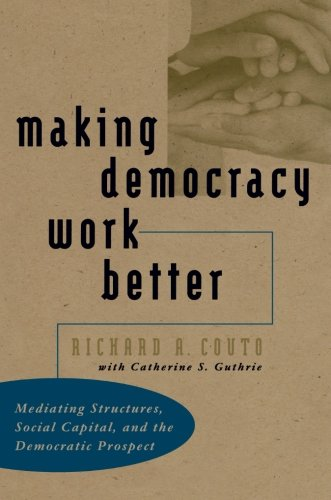 Making Democracy Work Better  Mediating Structures  Social Capital  And The Democratic Prospect