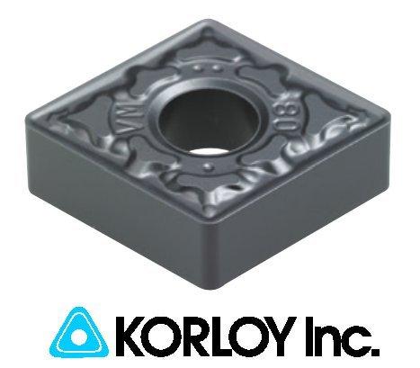 10pc) Korloy CNMG 431-HS PC5300 Carbide Inserts 1-02-036398