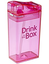 Drink in the Box Eco-Friendly Reusable Drink and Juice Box Container by Precidio Design, 8oz (Pink)