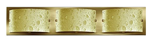 (Hinkley 5923BR Art Glass Three Light Bath from Daphne collection in Bronze/Darkfinish, )