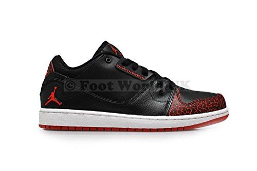 Aire JordanFlightlow Mens formadores 654465 zapatillas de deporte black gym red white 012