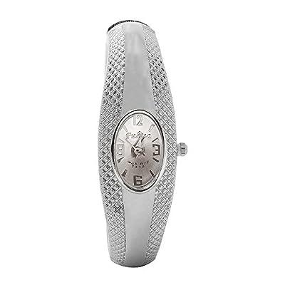 Discount Women's Silver Steel Bracelet Dress Quartz Wrist Watches