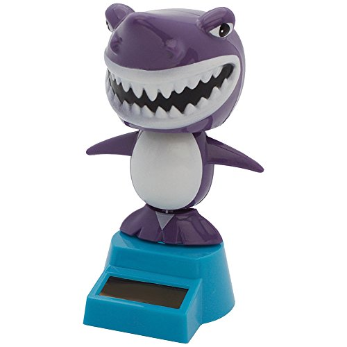 Dengguoli Cute Solar Powered Dancing Ornament Toys that Flip Flap for Car Home Desk Dancer Bobble Decarations, Shark -