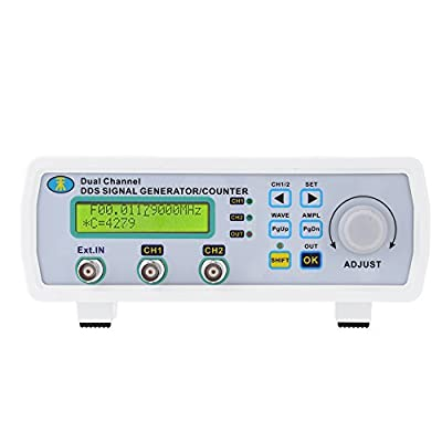 Leepesx Digital DDS Dual Channel Signal Source Generator Arbitrary wavesform Frequency Meter Counter 200MSa/s 25MHz