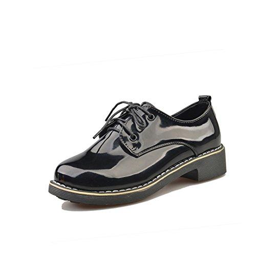 Primavera/verano ocio grueso con zapato cabeza redonda/Zapatos de viento college A