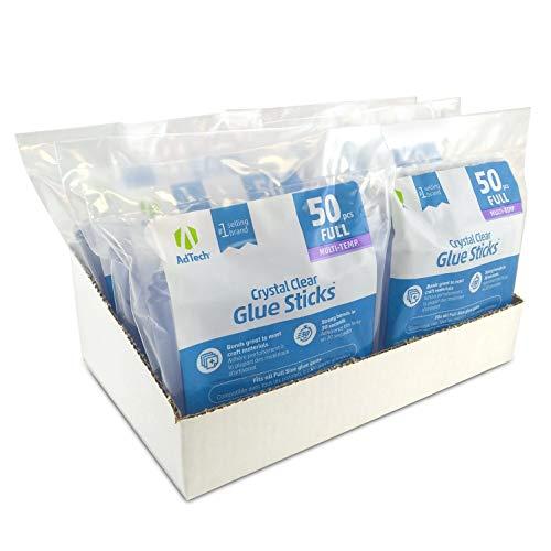 AdTech W220-14ZIP50-CASE Clear Hot Glue Sticks, case pack of 6 bags, 6 Pack