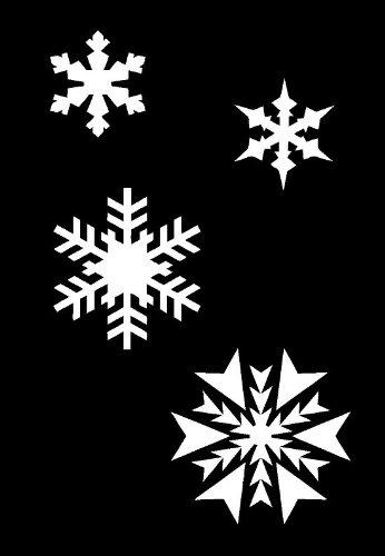 Airbrush-Schablone, Weihnachten, Schneeflocken, Wanddeko, aus Mylar, wiederverwendbar, DIN A4, 125 µm