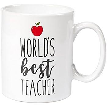 399050fde09 Amazon.com: Burton & Burton World's Best Teacher Mug: Kitchen & Dining