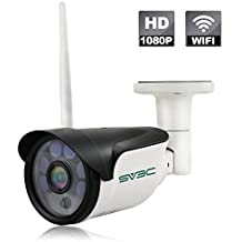 SV3C Wireless Security Camera, Full HD 1080P WiFi IP Surveillance Camera Outdoor Motion Detection Alarm, Aluminum Metal Housing(Robust Enough to withstand Outside Rough Weather), Support Max 64GB SD