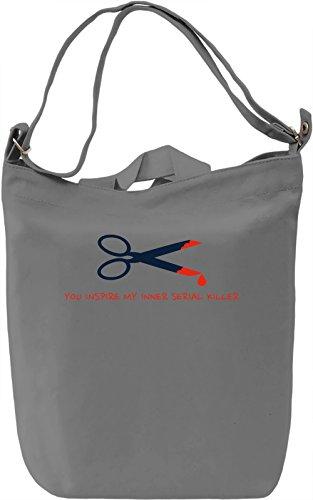 My inner serial killer Borsa Giornaliera Canvas Canvas Day Bag| 100% Premium Cotton Canvas| DTG Printing|