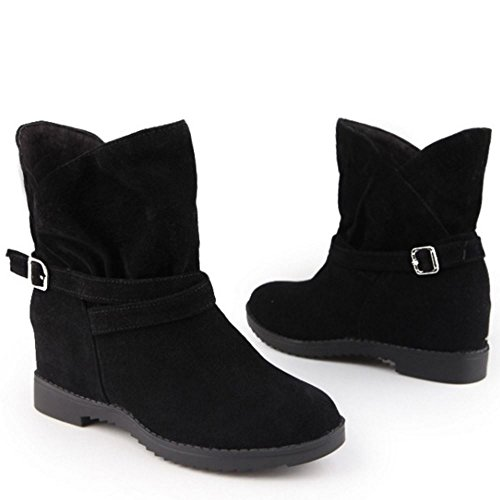 Increasing Pull Scarpe Black Casual On RAZAMAZA Height Donna Stivali 1236 qa06ZZwC