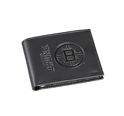 Team Sports America Leather Boston Bruins Bi-fold Wallet