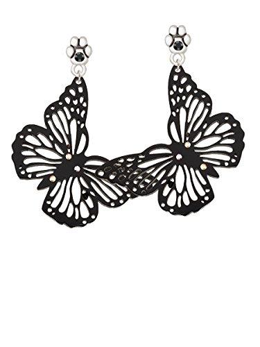 Acrylic Cut Out Butterfly Black - Black Crystal Paw (Acrylic Butterfly Earrings)