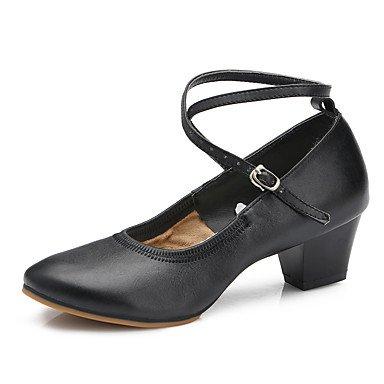 de baile Zapatillas Negro Zapatos Tacón Black Personalizables de Baile Moderno Cuadrado ZqS4wIw