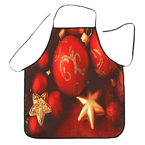 charmsamx Christmas Decorative Bib Aprons Waterproof Durable Polyester Apron Waitress Chef Apron Christmas Dinner Party Apron Unisex Apron 27.55