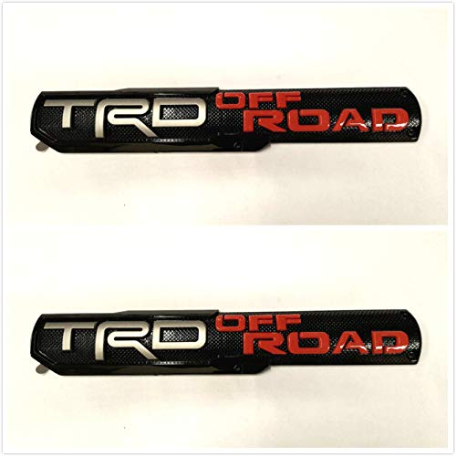 Dinona T-2OR Pair TRD Off Road Side Fender Front Door Badge Nameplates Emblems For Tacoma Tundra