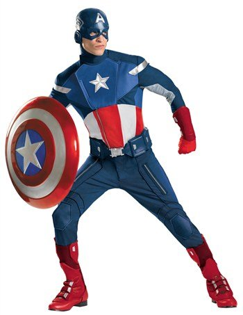 Disguise Mens Plus Size Avengers Captain America Adult Costume (Captain America Boot Covers)