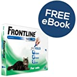 Frontline Spot On For Cats - 3 Pipettes - INCLUDES EXCLUSIVE PETWELL® FLEA AND TICK E BOOK
