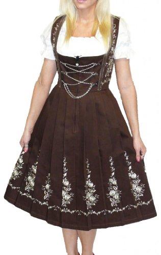 Dirndl Trachten Haus 3-Piece Long German Wear Party Oktoberfest Waitress Dress 12 42 Brown by Dirndl Trachten Haus (Image #1)