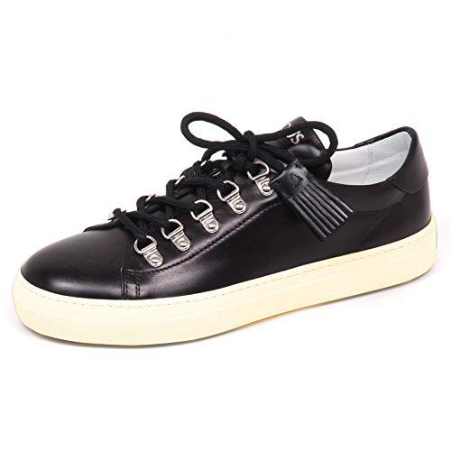 E4210 Black Shoe Scarpe Donna Nero nappine Woman ganci Tod's Sneaker 7wdOgqff