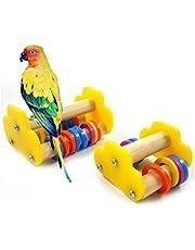 Sanwooden Funny Parrot Skateboard Lovely Parrot Bird Skateboard Roller Pet Intelligence Development Training Toy Pet Supplies