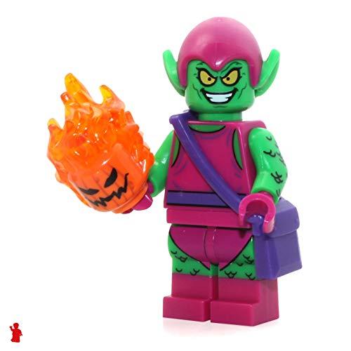 LEGO Marvel Super Heroes Green Goblin Minifigure 76057 Mini Fig (Lego Minifigure Goblin)