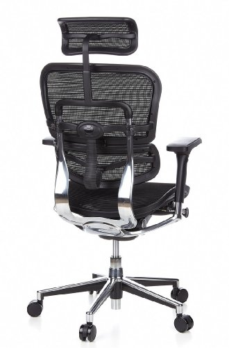 Ergohuman Bürostuhl mit Netz-Stoff, schwarz - 7